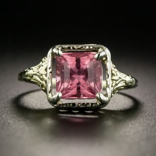 Art Deco Pink Tourmaline Ring - 2