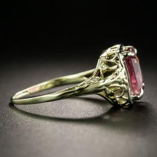 Art Deco Pink Tourmaline Ring