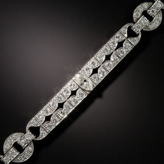 Art Deco Platinum and Diamond Bracelet - 2