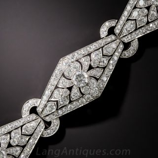 Art Deco Platinum and Diamond Bracelet - Viennese - 1