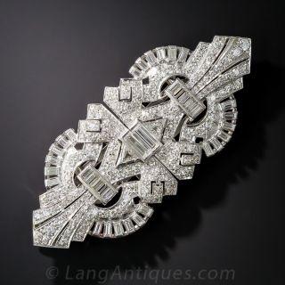 Art Deco Platinum and Diamond Clips/Brooch - 2