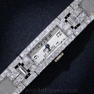 Art Deco Platinum and Diamond Lady's Bracelet Watch