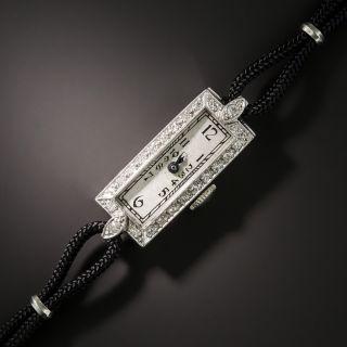 Art Deco Platinum and Diamond Watch Baume & Mercier Movement - 2
