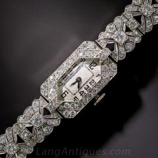 Art Deco Platinum and Diamond Watch