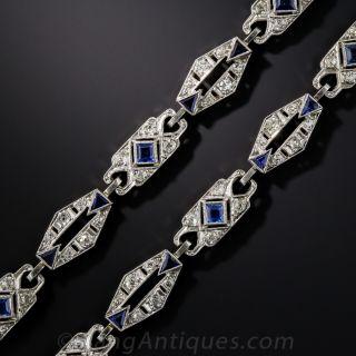 Art Deco Platinum, Diamond and Sapphire Bracelets/Necklace