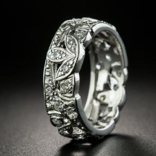 Art Deco Platinum Diamond Band, Size 7 1/4 - 2