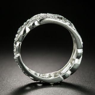Art Deco Platinum Diamond Band, Size 7 1/4