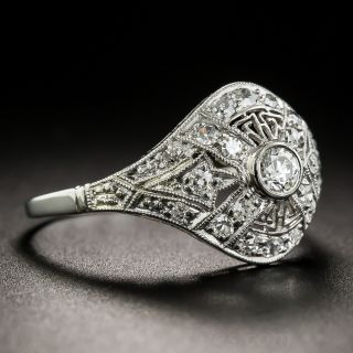 Art Deco Platinum Diamond 'Cigar Band' Ring