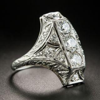 Art Deco Platinum Diamond Dinner Ring