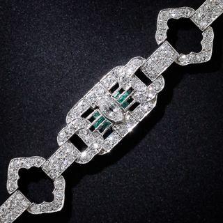 Art Deco Platinum Diamond