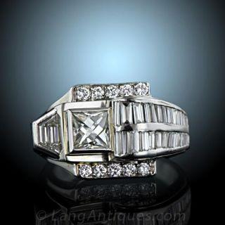 Art Deco Diamond Dinner Ring Art Deco Jewelry