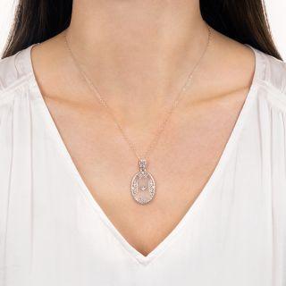 Art Deco Rock Crystal and Diamond Pendant
