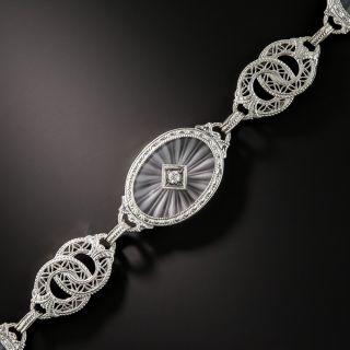 Art Deco Rock Crystal Quartz Bracelet