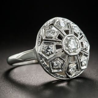 Art Deco Round Diamond Dinner Ring
