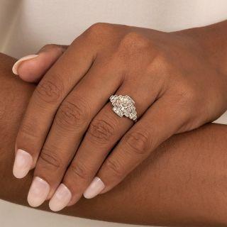 Art Deco Stepped 1.10 Carat Diamond Engagement Ring - GIA G VS1