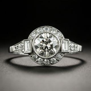 Art Deco Style 1.00 Carat Diamond Engagement Ring - 1