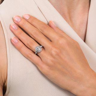 Art Deco Style 1.00 Carat Diamond Engagement Ring