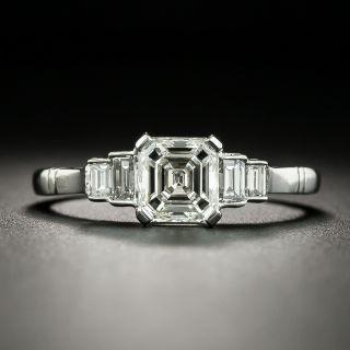 Art Deco Style 1.01 Carat Square Emerald-Cut Diamond Engagement Ring - GIA - 2