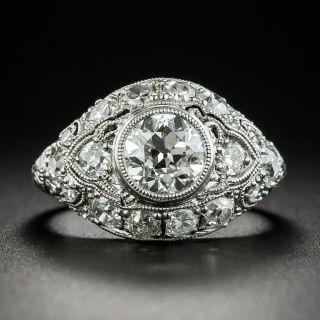 Art Deco 1.20 Carat Diamond Platinum Engagement Ring - GIA H VS2 - 2