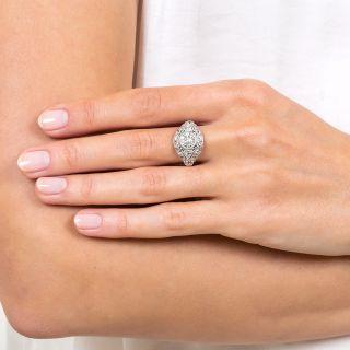 Art Deco Style 1.20 Carat Diamond Platinum Engagement Ring - GIA H VS2