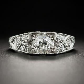 Art Deco Style 1.25 Carat Diamond Platinum Engagement Ring - 5