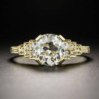 Art Deco Style 1.62 Carat Diamond Ring - GIA L I1 - 1