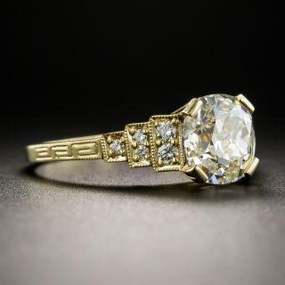 Art Deco Style 1.62 Carat Diamond Ring - GIA L I1