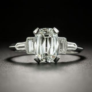 Art Deco Style 1.72 Carat Diamond Engagement Ring - GIA H SI1 - 3