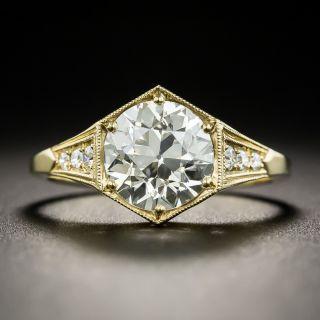 Art Deco Style 1.93 Carat Diamond 18K Engagement Ring - GIA J VVS2  - 2