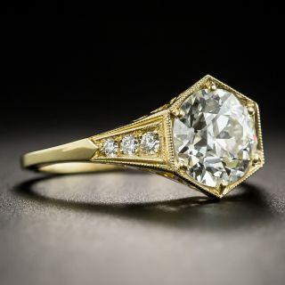 Art Deco Style 1.93 Carat Diamond 18K Engagement Ring - GIA J VVS2