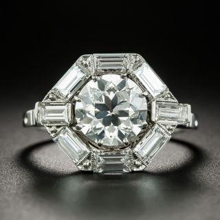 Art Deco Style 2.00 Carat Diamond Engagement Ring - GIA H VS2 - 2