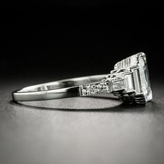 Art Deco Style 2.02 Carat Emerald-Cut Diamond Engagement Ring - GIA H VVS 1