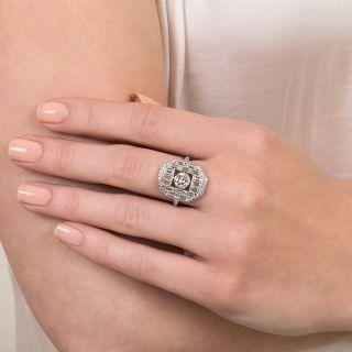 Art Deco Style .72 Carat Center Diamond Engagement Ring