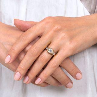 Art Deco Style .79 Carat Diamond Engagement Ring