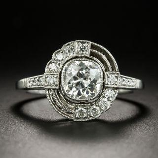 Art Deco Style .90 Carat Diamond Engagement Ring - 2