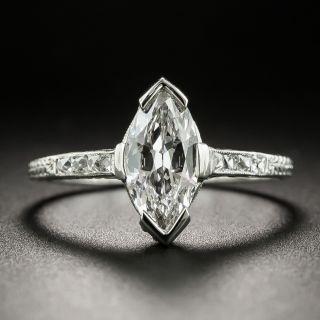Art Deco Style .92 Carat Diamond Engagement Ring - GIA - 2