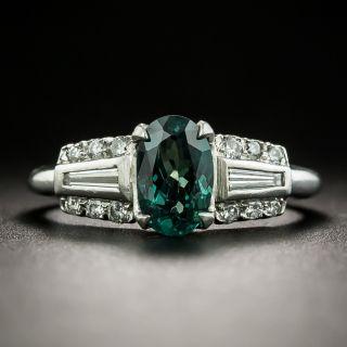 Art Deco Style Alexandrite and Diamond Ring - 2