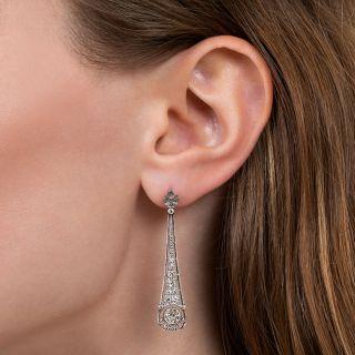 Art Deco-Style Diamond Dangle Earrings
