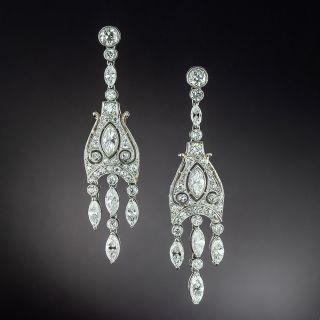 Art Deco Style Diamond Girandole Earrings - 3