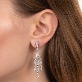 Art Deco Style Diamond Girandole Earrings