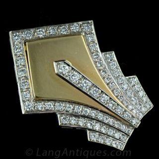 Art Deco Style Diamond Pin Main View
