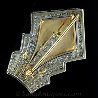Art Deco Style Diamond Pin