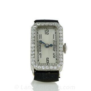 Art Deco Style Diamond Watch - 1