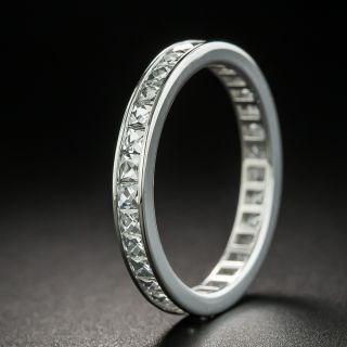 Art Deco Style French Cut Diamond Eternity Wedding Band, Size 6 1/2 - 2