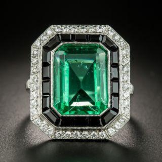 Art Deco Style Green Glass