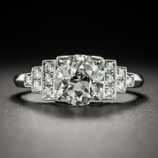 Art Deco Style Platinum 1.59 K/VS2 (GIA) Old European Diamond Ring - 2