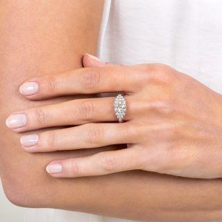 Art Deco Style 1.59 Carat Diamond Platinum Engagement Ring - GIA K VS2