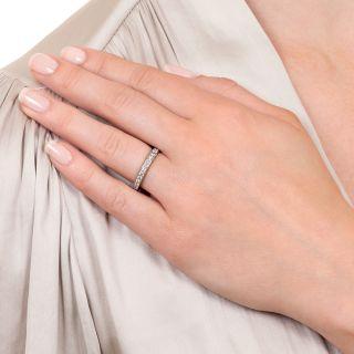 Art Deco Style Platinum Diamond Eternity Ring - Size 6
