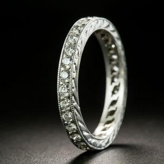 Art Deco Style Platinum Diamond Eternity Ring - Size 6 - 2