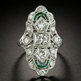 Art Deco Three-Stone Diamond Dinner Ring - 3